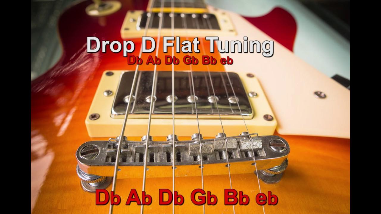 Half Step Drop D Flat Guitar Tuning Db Ab Db Gb Bb Eb Guitar