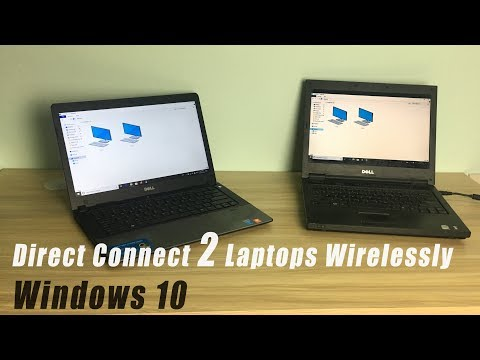 WINDOWS 10 : Direct Connect 2 Laptops Wirelessly