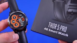 Zeblaze Thor 5 Pro 4G Smartwatch Unboxing and Hands on