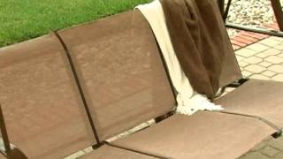Solano 3 Person Textilene Canopy Swing Sand - Product Review Video