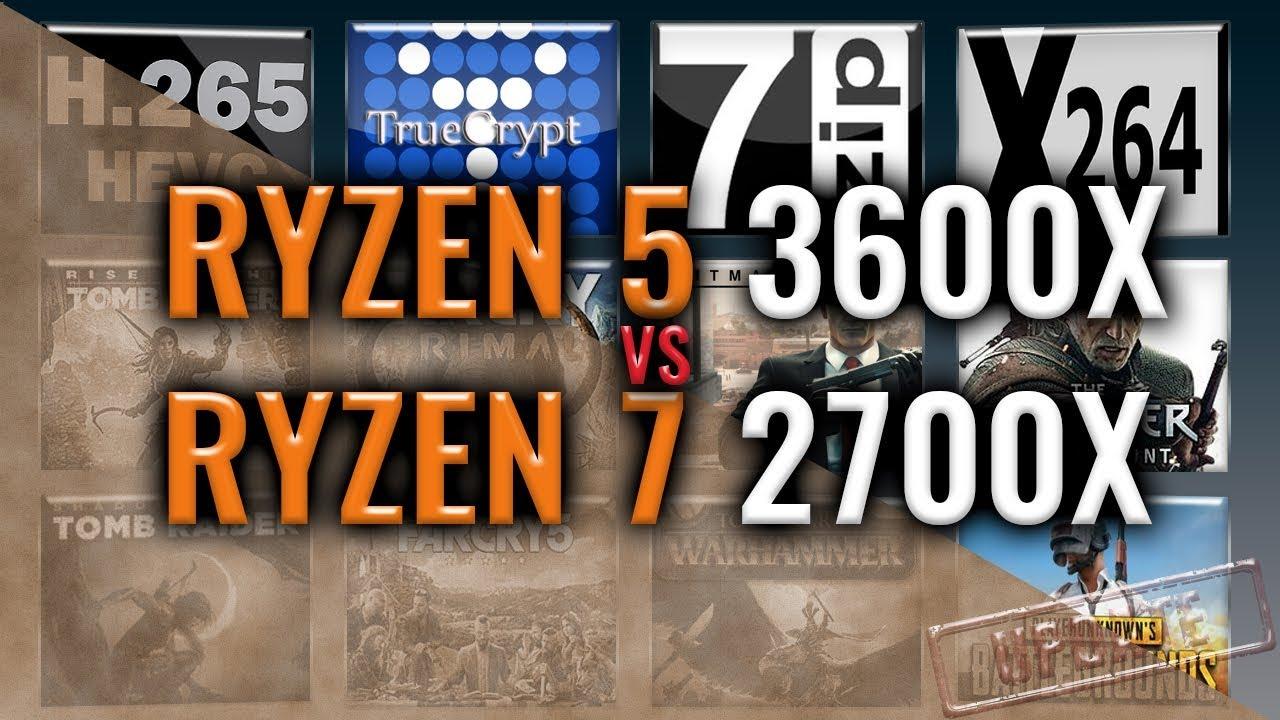 Amd Ryzen 3600x Vs 2700x