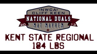184 lbs.- 2013 NWCA Cliff Keen National Duals Regional SemiFinal - Kent St. vs Oklahoma St.