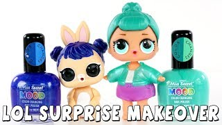 LOL Surprise Dolls and Pets Makeover | Color Changing Nail Polish DIY | DCTC Amy Jo