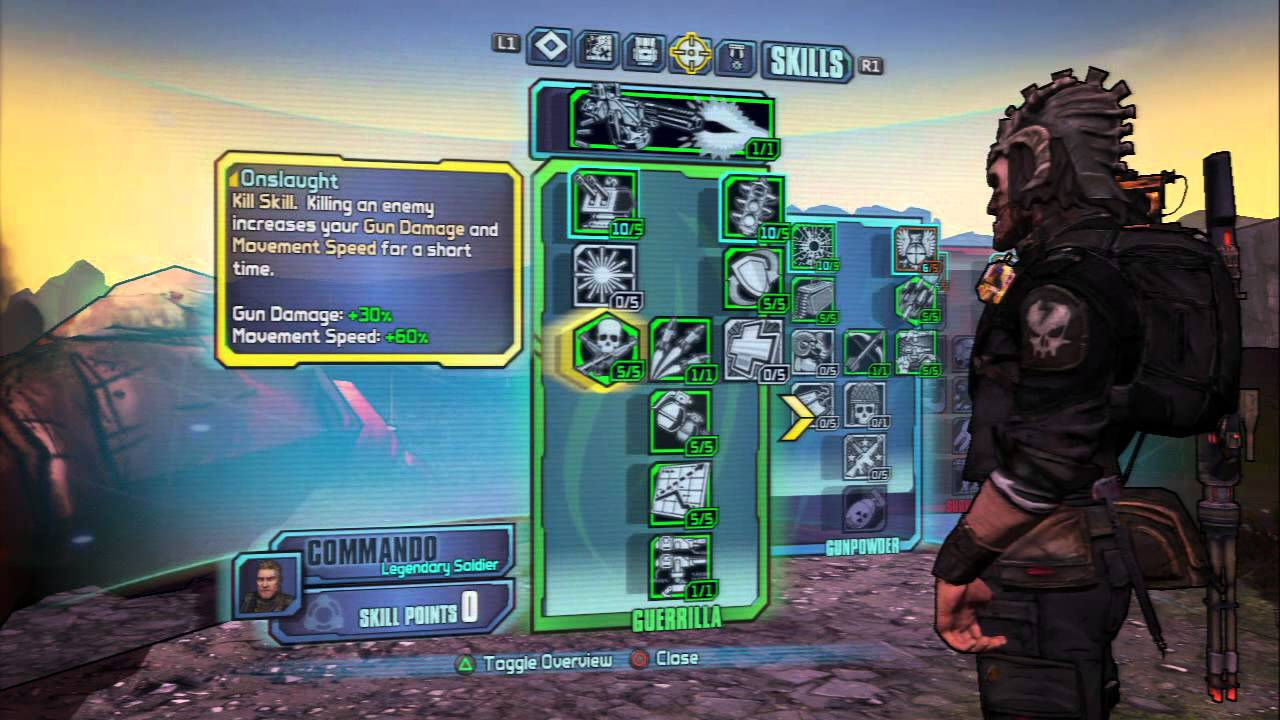 Commando Build Borderlands  Uvhm