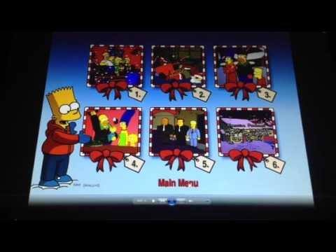 The Simpsons Christmas Dvd.Christmas With The Simpsons Dvd Menu Walkthrough