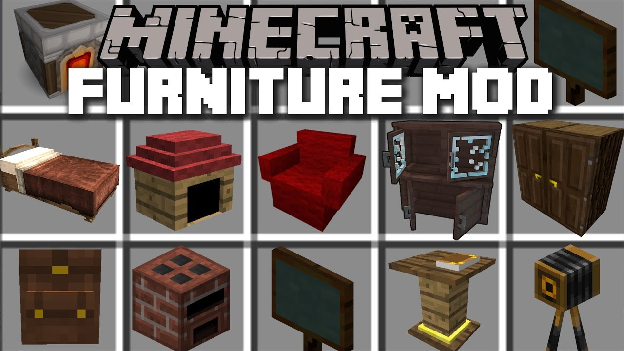 Minecraft FURNITURE MOD / REBUILDING HOUSES IN MINECRAFT!! Minecraft