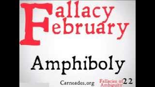 Amphiboly (Logical Fallacy)