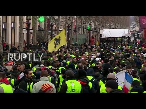 LIVE: 'Yellow Vest' protests hit Paris for the eighth week in a row