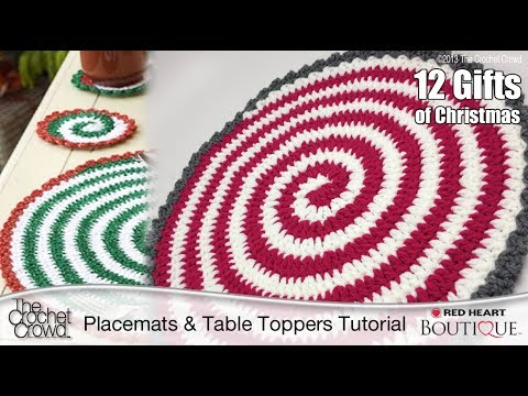 Learn How To Make Spiral Crochet Placemats Tutorial Youtube