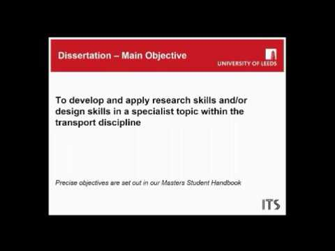 Masters Degrees in Transport - webinar on the MSc dissertati