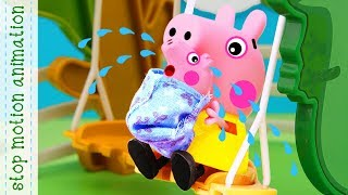 baby Alexander Peppa pig toys stop motion animation english episodes 2018