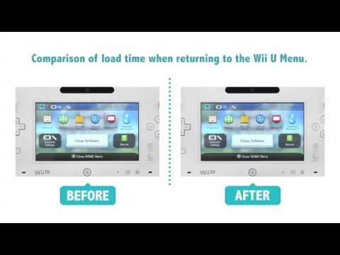 Time Comparison Video Wii U System Update