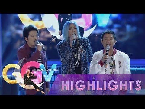 GGV: Vice Ganda sings as Regine with Ogie and Janno