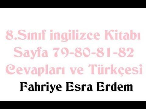 8.Sınıf İngilizce Kitabı Sayfa 79-80-81-82 Cevapları ve Türkçesi MEB 2019
