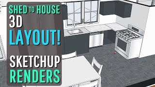 SHED to HOUSE (SketchUP) Design