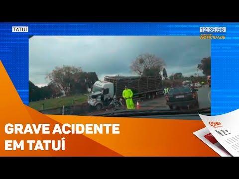 Grave acidente em rodovia de Tatuí - TV SOROCABA/SBT
