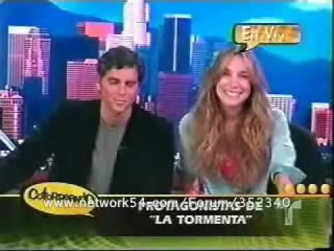 Christian Meier y Natalia Streignard en el programa 'Cotorreando'