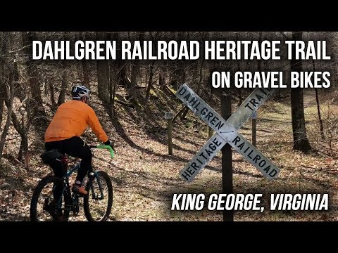 Gravel Biking the Dahlgren Railroad Heritage Trail in King George, VA