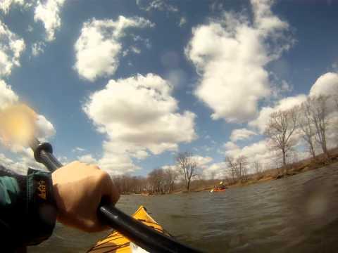 Kayaking the Illinois River near Morris, Illinois