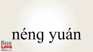 How to Say Energies in Chinese
