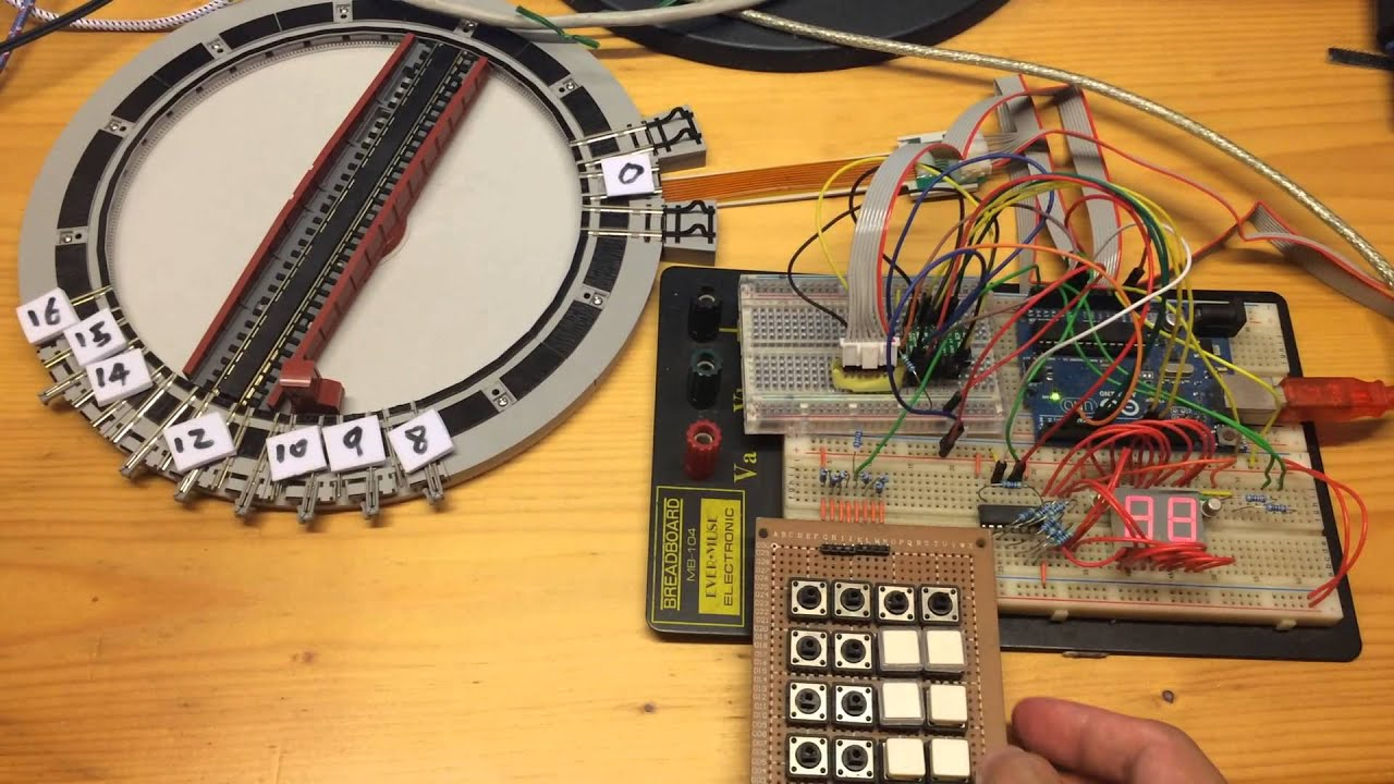 Modified Kato turntable to indexed turntable with Arduino