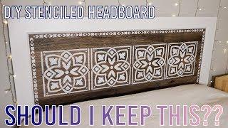 DIY Stenciled Headboard
