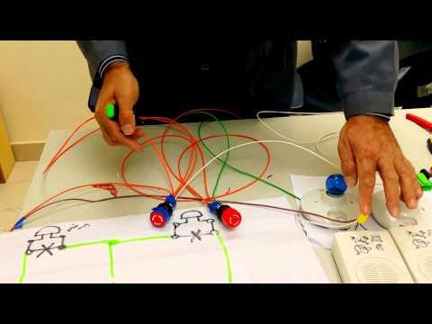 شرح لتوصيلة المسابقات بأستخدام ضواغط push Button قناة فادي التعليمية للكهرباء