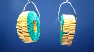 Handmade Origami Wrapping Style Earrings
