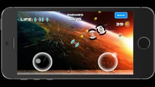 Shmup Wars - iPhone and Android game - game play video 1 - June 17th 2016