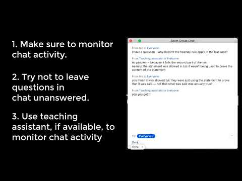 Using chat in Zoom on YouTube