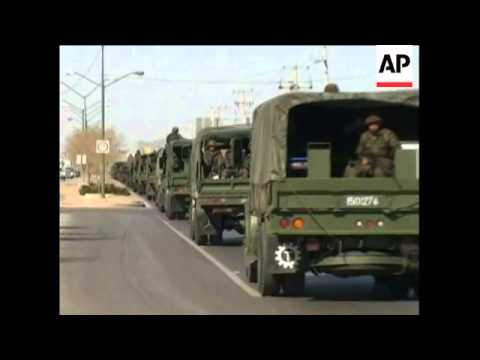 The Mexican government ordered the deployment of army troops in the border city of Ciudad Juarez, th