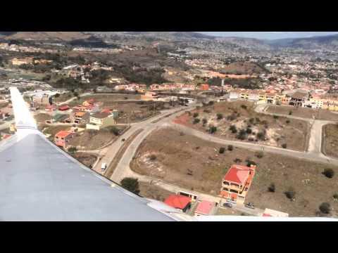 Difficult landing Tegucigalpa Airport