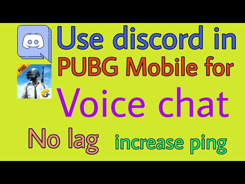 How To Use Discord With Pubg Mobile For Voice Chat | No Lag | Increase Ping | Clear Voice |