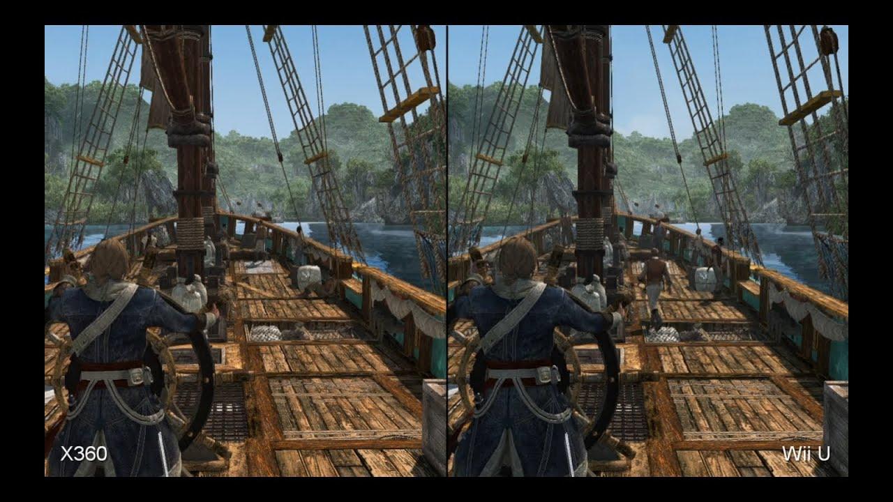 Assassin S Creed 4 Xbox 360 Vs Wii U Comparison Youtube