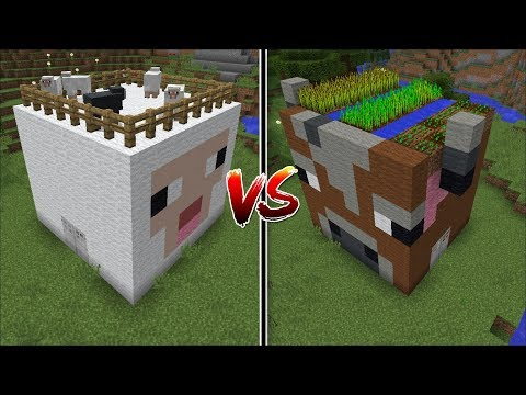 Minecraft COW HOUSE VS SHEEP HOUSE MOD / FIND OUT WHICH MOB IS BETTER TO MAKE A HOUSE !! Minecraft