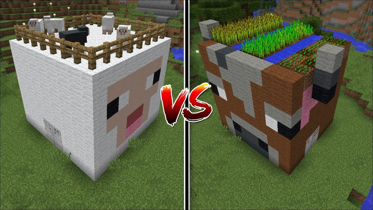 Minecraft Cow House Vs Sheep House Mod    Find Out Which Mob Is Better To Make A House