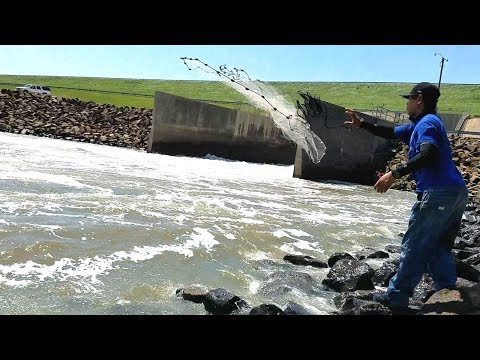 Catching Fish Using Cast Net in Spillway. EP 19