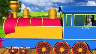 Piggy on the railway line picking up stones - 3D Animation English Nursery rhyme song for children thumbnail