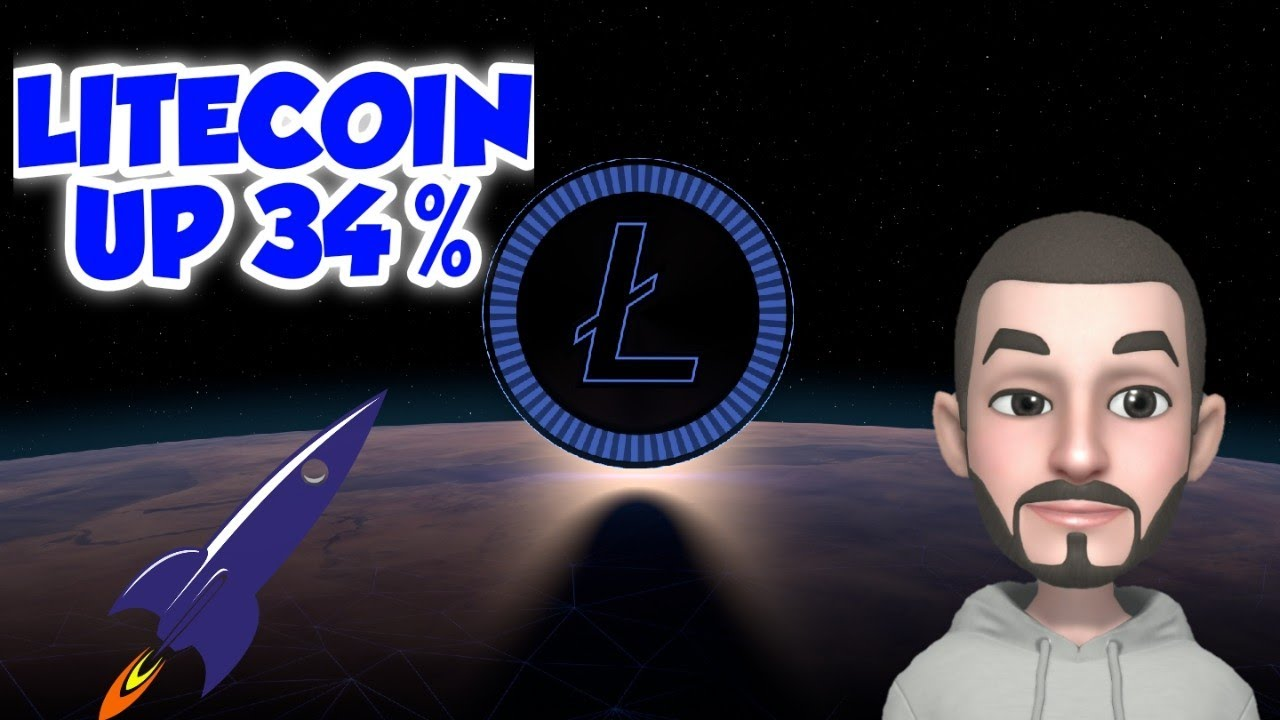 LITECOIN SURGES 34% OVER THE PAST MONTH