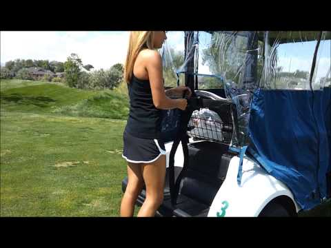 Clear Vision Golf Cart Cover Installation