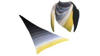 Dreieckstuch Häkeln Polarlicht Moss Stitch
