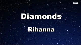Diamonds - Rihanna Karaoke 【No Guide Melody】 Instrumental