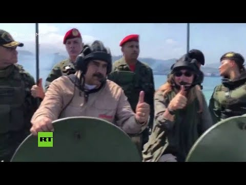 Venezuela: Maduro supervisa ejercicios militares en el Fuerte de Paramacay