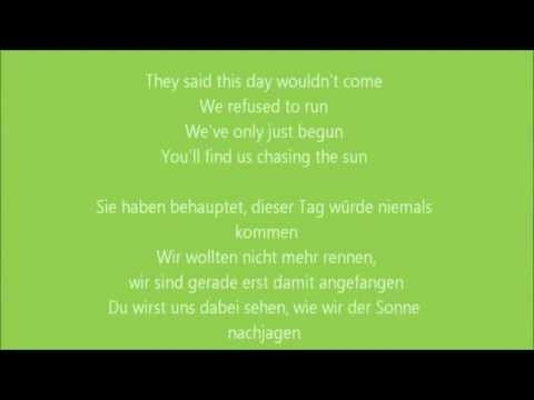 [HQ] The Wanted - Chasing The Sun - Lyrics   Deutsch-Übersetzung
