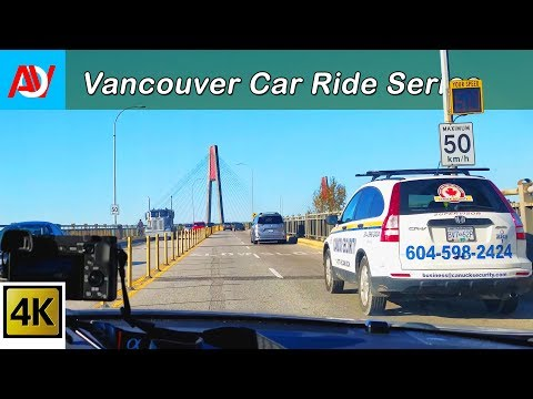 Vancouver CAR RIDE: SATURDAY MORNING DRIVE From Scott Road to Main Street - Music by Silent Partner