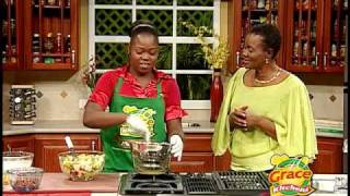 Cameal Davis Prepares Spotlight Potato Salad - Grace Foods Creative Cooking