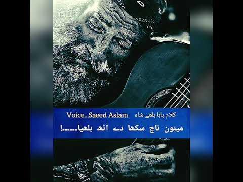 Yaar Mana Day By Saeed Aslam| Sufi Izam Baba Bullay Shah|  Punjabi Poetry For Whatsapp Status