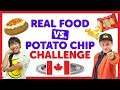 Canadian Real Food vs Potato Chip Challenge with Cooper & Julianna from The KIDZ BOP Kids