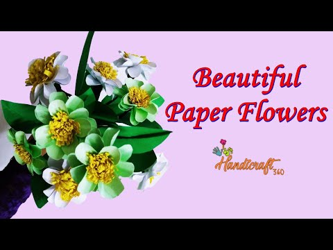How To Make Paper Flower – Paper Craft – DIY Paper Flower | Flower Bouquet | Handcraft