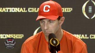 Dabo Swinney following Clemson's loss: Tonight was about LSU | College Football on ESPN